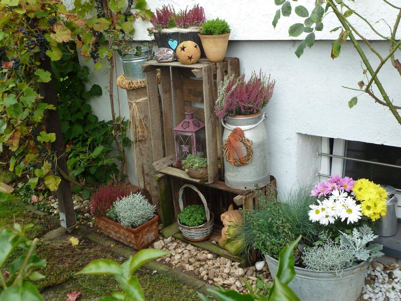 Alte Holzleiter Im Garten Dekorieren Neu Herbstdeko Im Garten Bilder Und Fotos