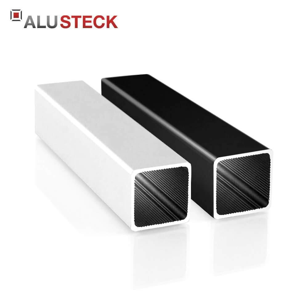 alu vierkantrohr 25x25x1 5 mm blank silber eloxiert schwarz pulverbeschichtet aluminiumprofil quadratrohr R V25