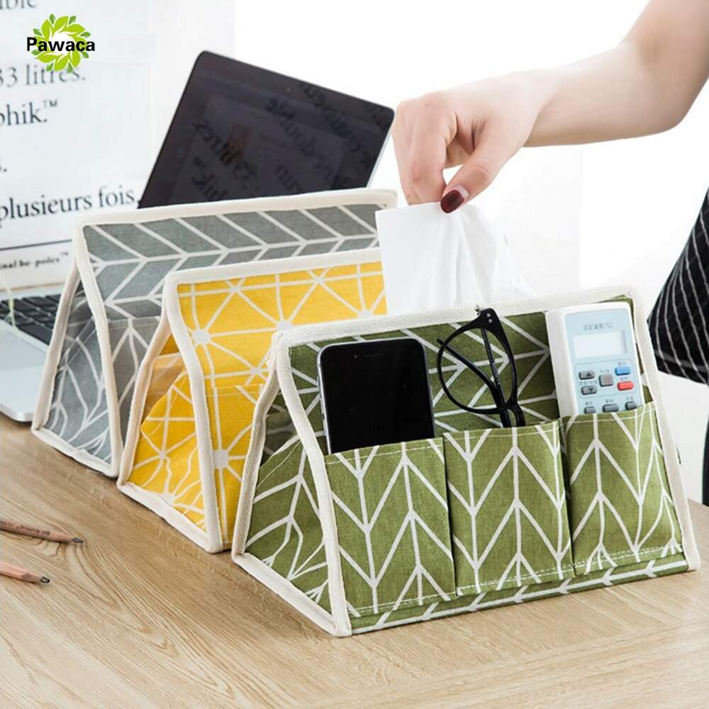 Baumwolle leinen couchtisch papier tissue box fernbe nung aufbewahrungsbox kreative tuch Gewebe Fall serviettenhalter papier handtuch 1