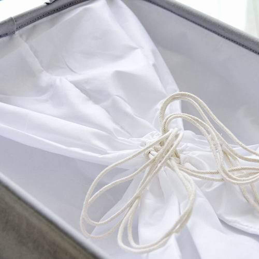 Wasserdichte PE Beschichtung Ablagekorb Kleinigkeiten Kordelzug Aufbewahrungsbox Baumwolle Leinen 45X30X25 CM Schmuck Kosmetik Convinence halter