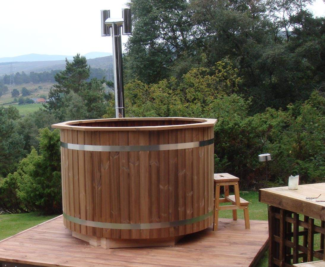 Hot Tub Spezial Set1 Holzofen mit Durch 150cm 1xmna8GDsYsV5e