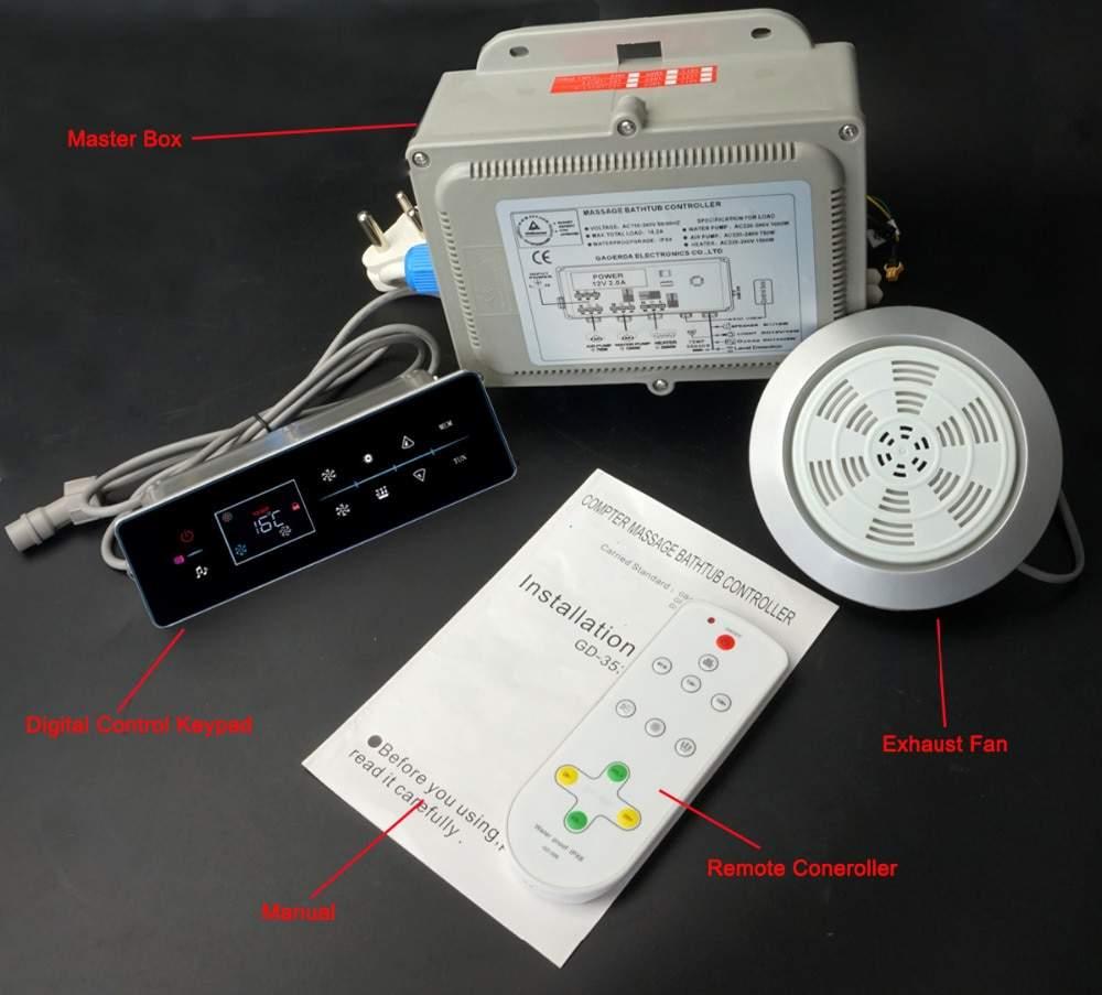 Whirlpool badewanne system badewanne contoller mit luftblase heizung funktion GD 353B