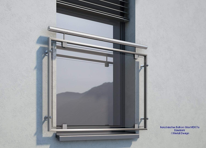 Franzoesischer Balkon Glas Edelstahl MD07ap58a0e