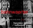"""Bambus Garten Stuttgart Frisch Bahnwaerter"""" Franziska Geissler – """"kaffeesatz Lesen"""""""
