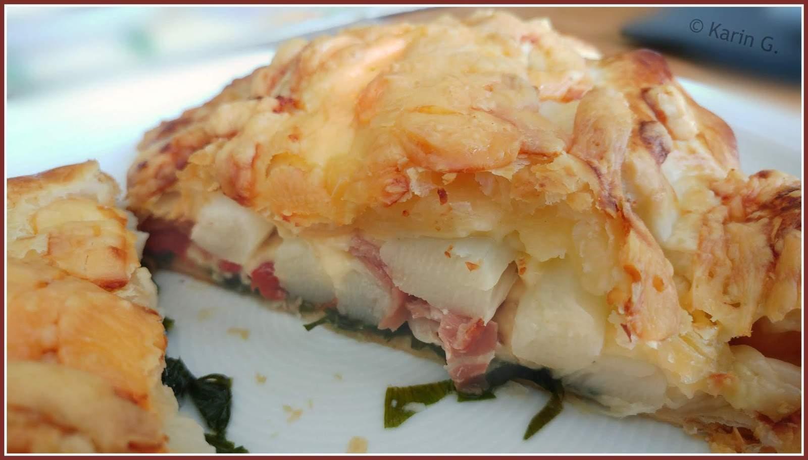 Spargel Bärlauch Blätterteig Tomate Parma Gouda % klein karing