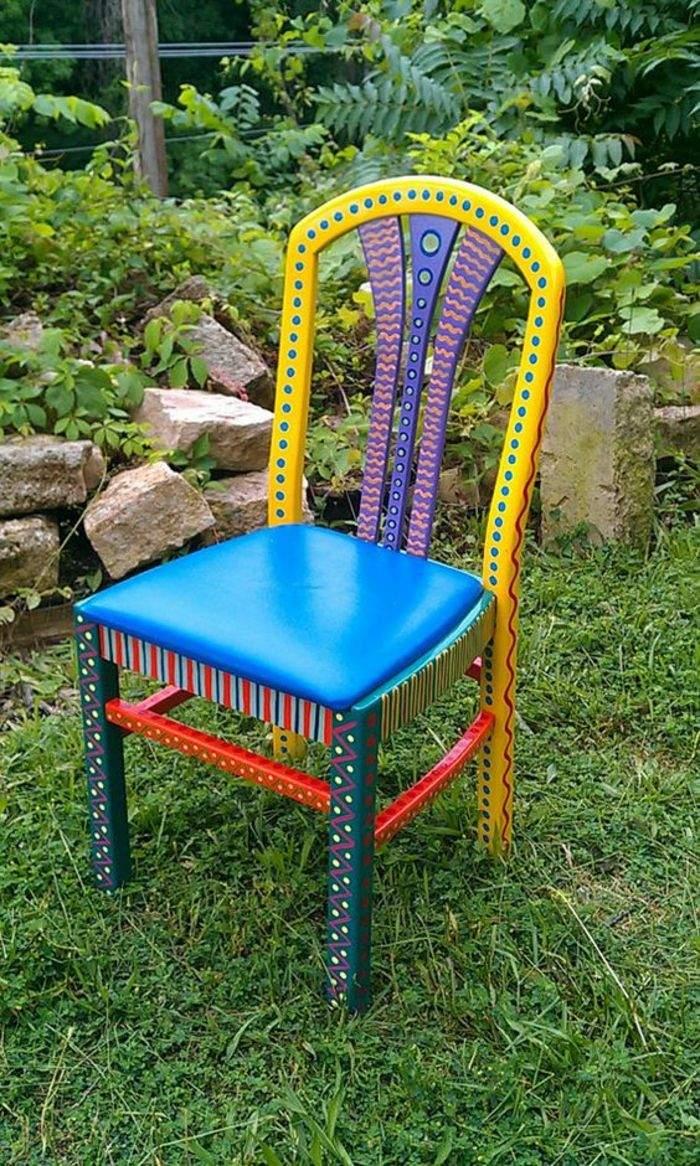 upcycling ideen alter stuhl aufpeppen garten diy m C3 B6bel