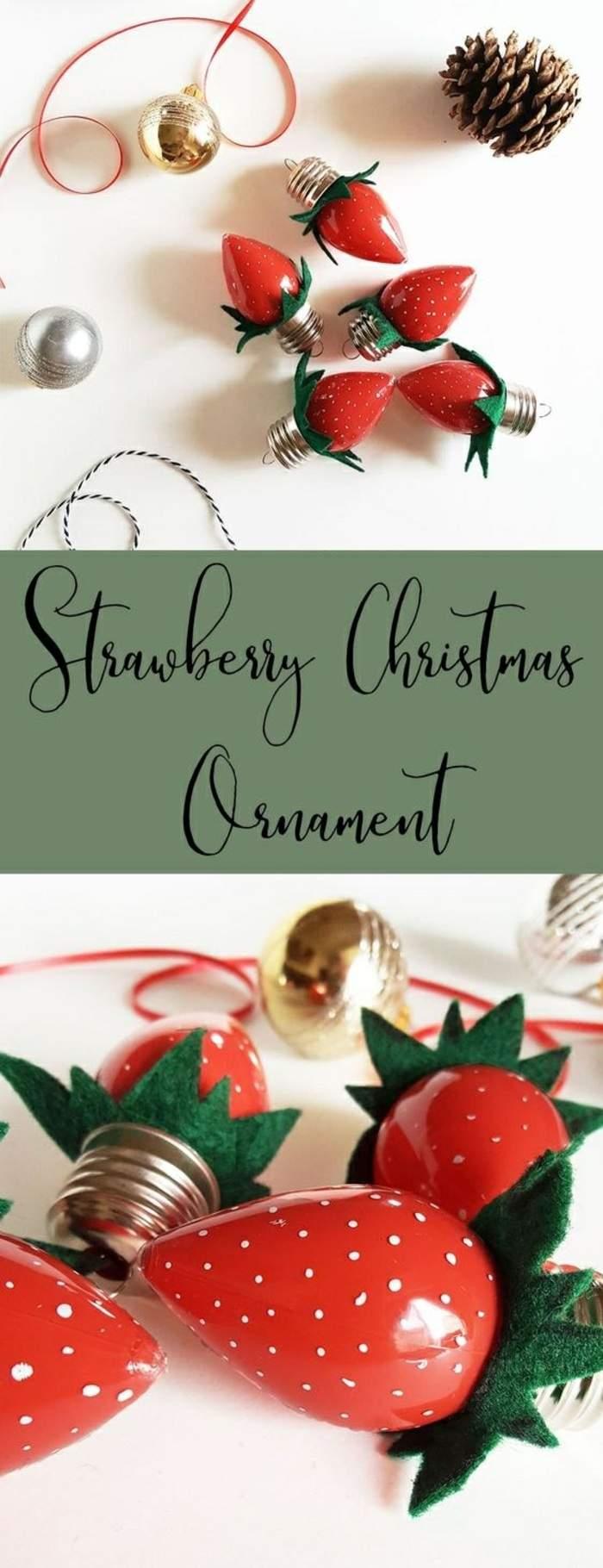6 basteln mit gl C3 BChbirnen erdbeeren aus birnen gr C3 BCner stoff schleife tannenzapfe weihnachtskugel