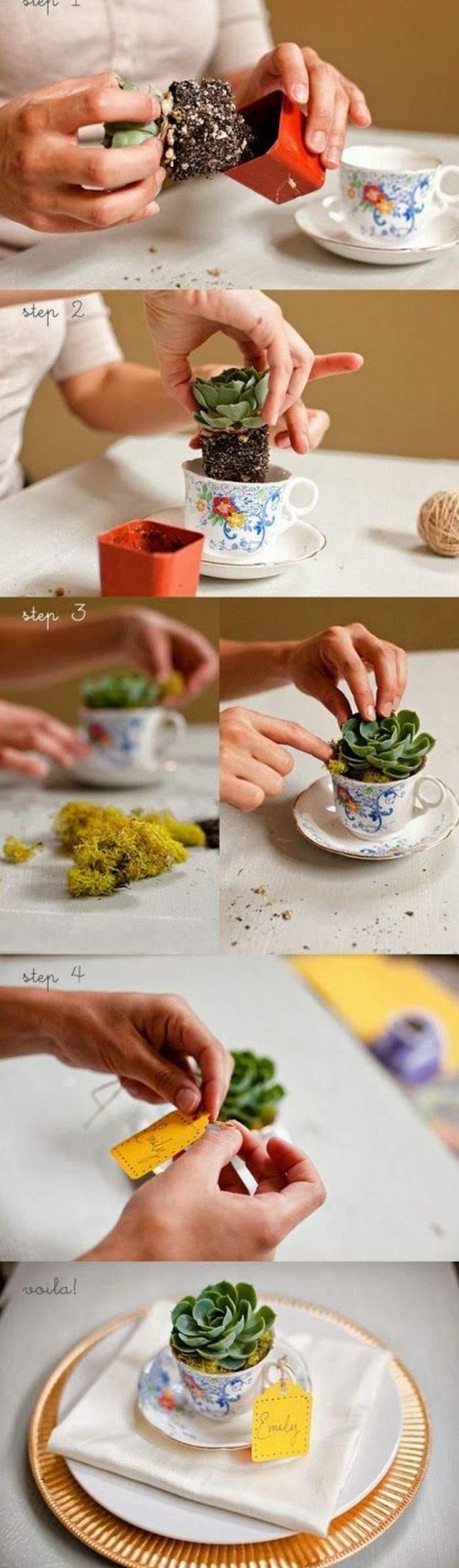 6 basteln mit m C3 BCll pflanze kaffeetassen tischdeko diy blument C3 B6pfe teller serviette e