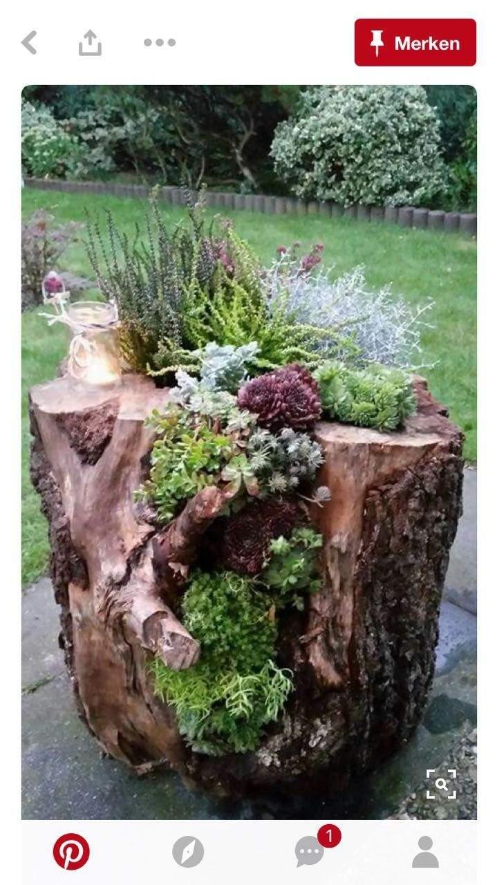 Baumstamm Dekorieren Garten Reizend Pin Von Imw Auf Gartendeko Floral