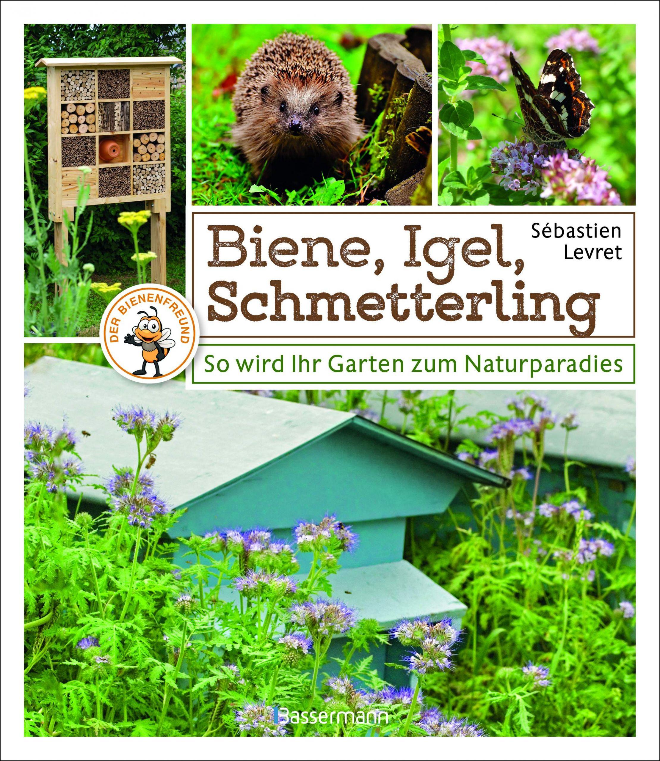 Biene Igel Schmetterling Cover