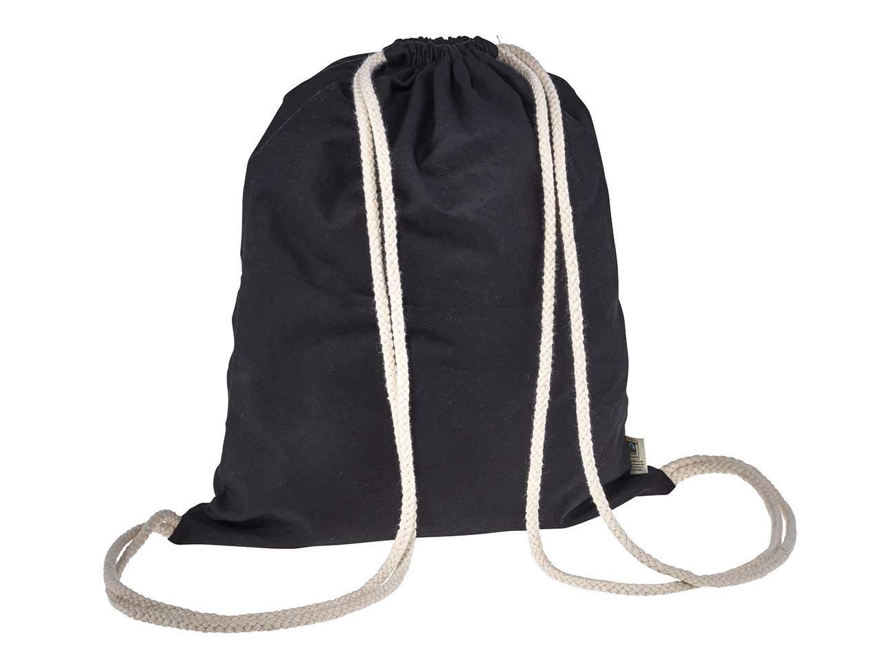 memo bio baumwoll rucksack mit fairtrade siegel schwarz 32 x 40 cm v1756 a 02