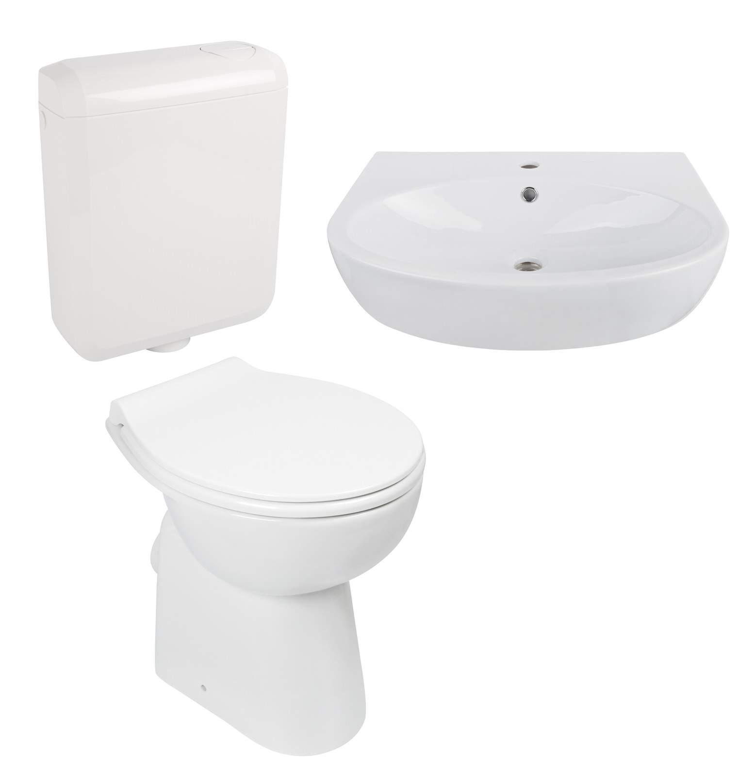 01 Keramik Set spuelrandloses WC Waschtisch