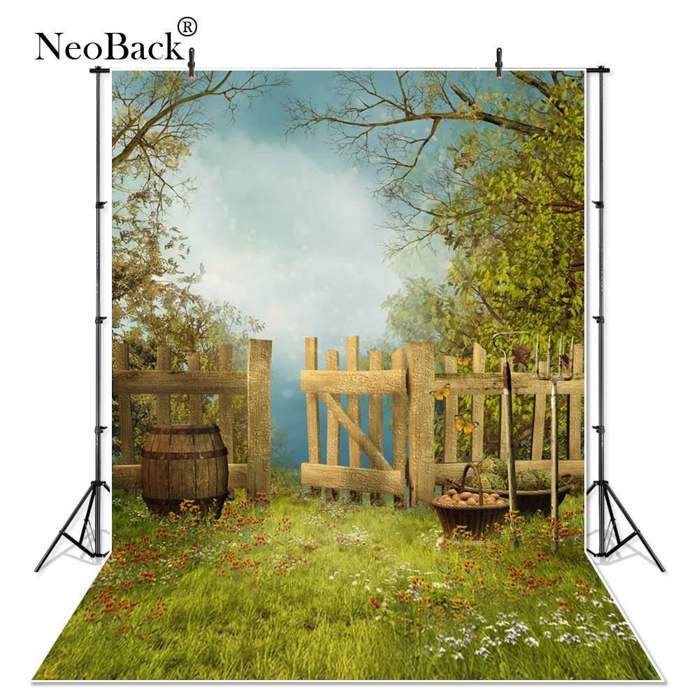 Dünne Vinyl Neue Geboren Baby Fotografie Hintergrund Kinder kinder Hintergrund Gedruckt Studio Porträt Vintage Garten Foto