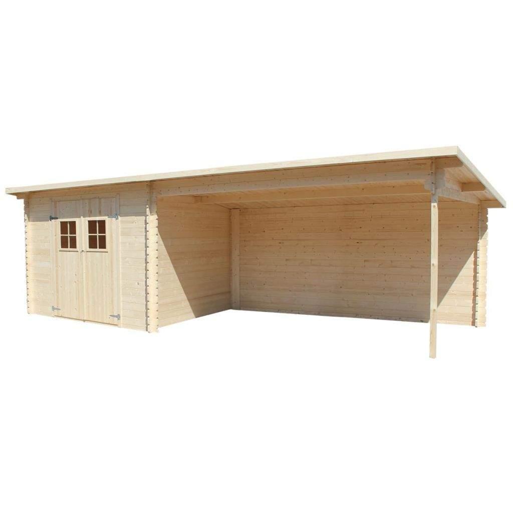 Gartenhaus Blockhaus Ger tehaus Ger teschuppen Holz 28 mm 7x3 m 2 1280x1280