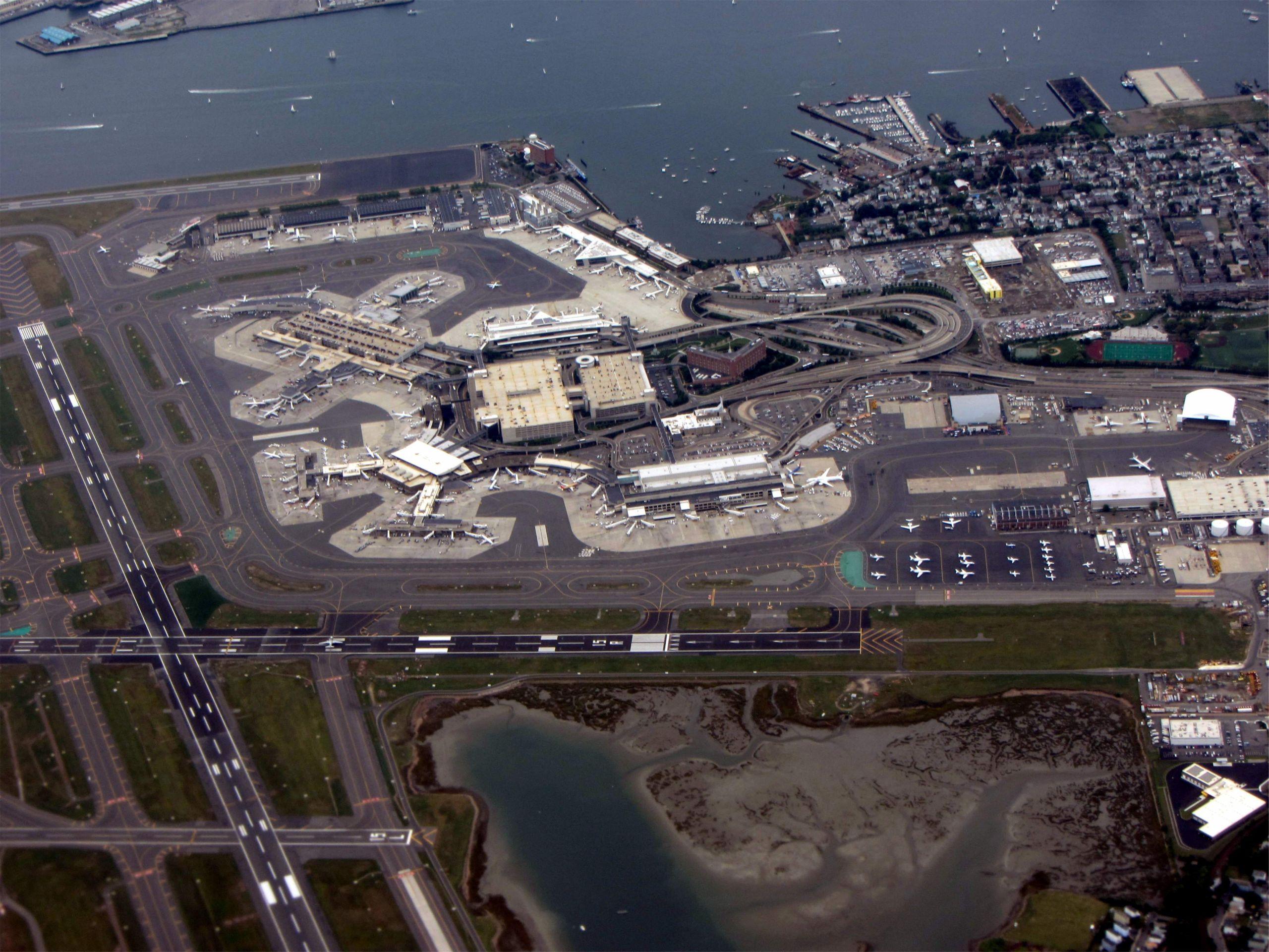 Logan Airport aerial view