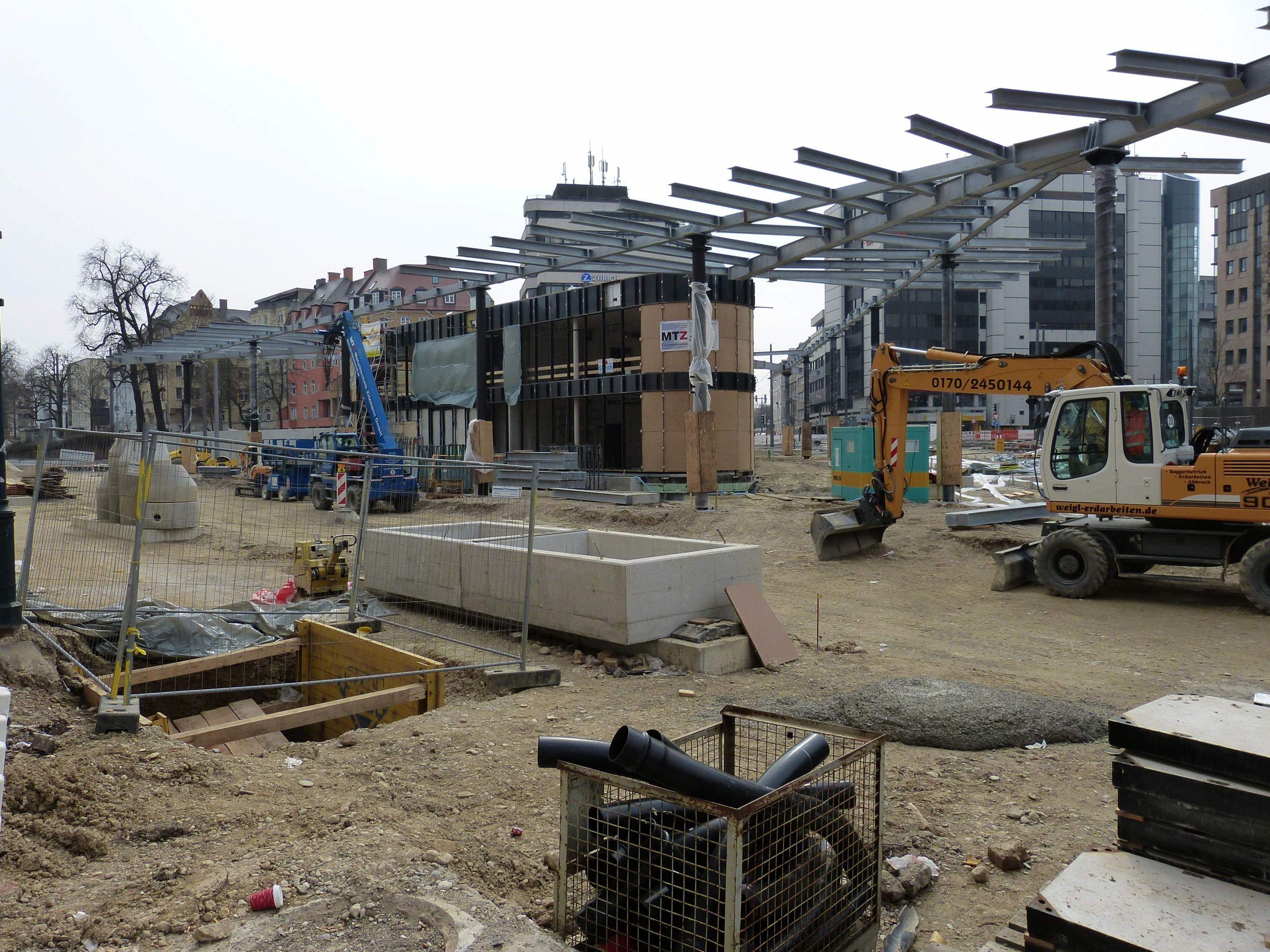 Königsplatz Baustelle Projekt Augsburg City JPG