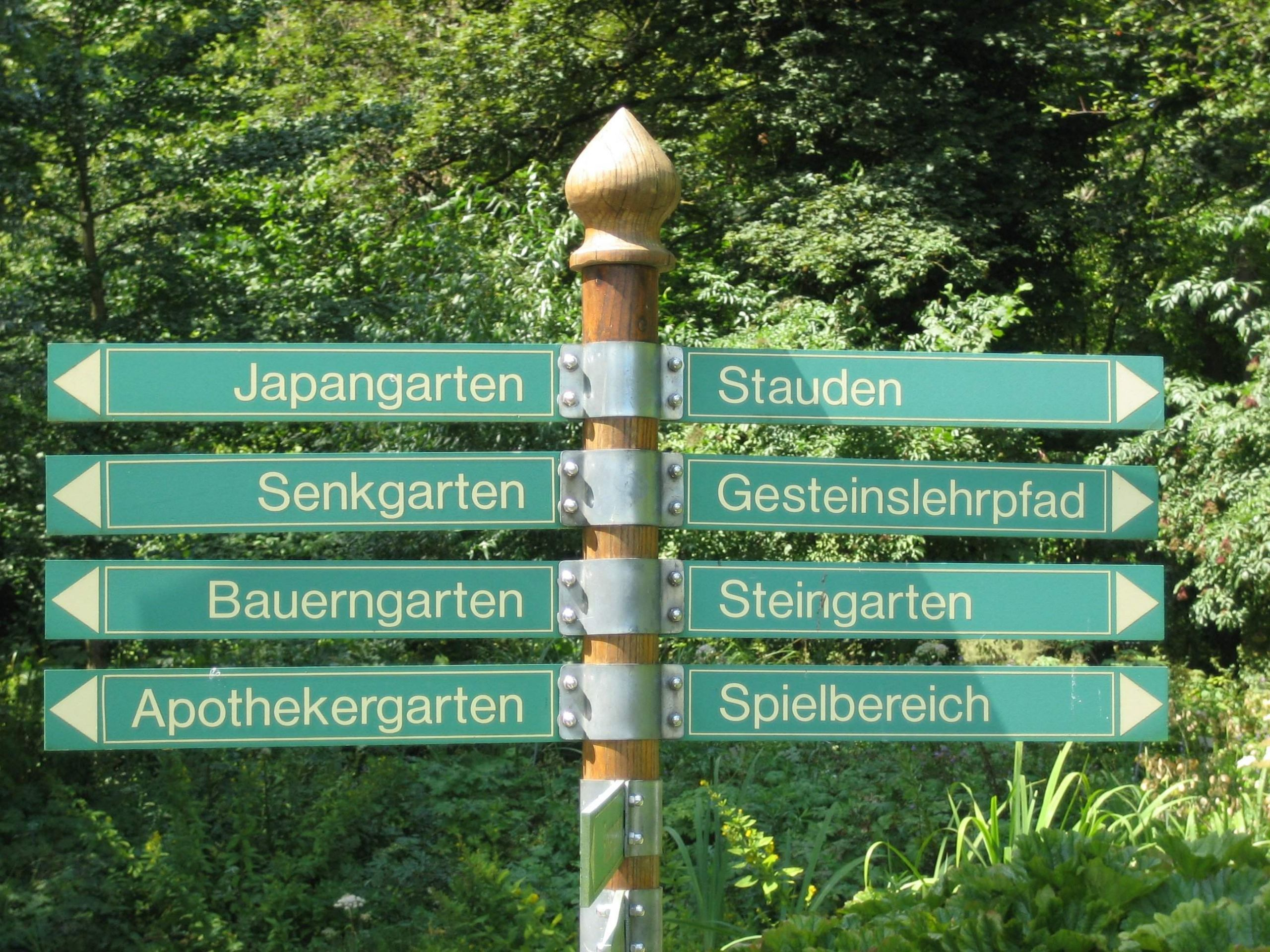 Augsburg Bot Garten Wegweiser