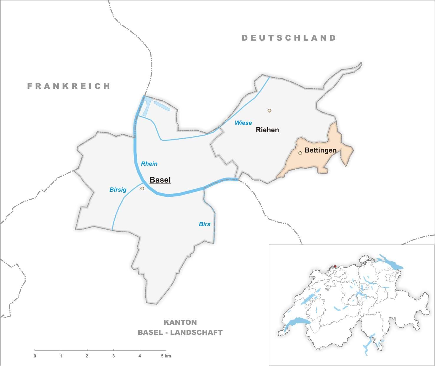Karte Gemeinde Bettingen 2007