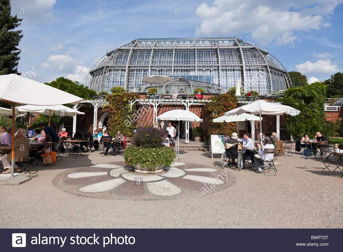 cafe berlin botanischer garten botanischer garten vor dem grossen pavillon das grosse tropenhaus eines der grossten glas bwp727