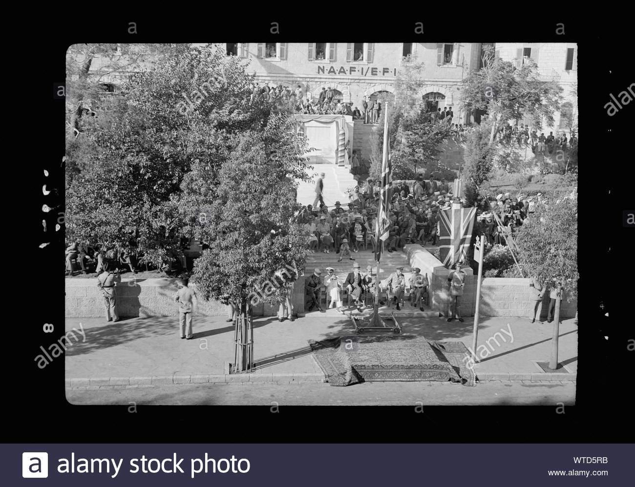 militarische parade in jerusalem am 28 mai 42 grand stand vor der offentlichen garten wo es grussen genommen wurde wtd5rb