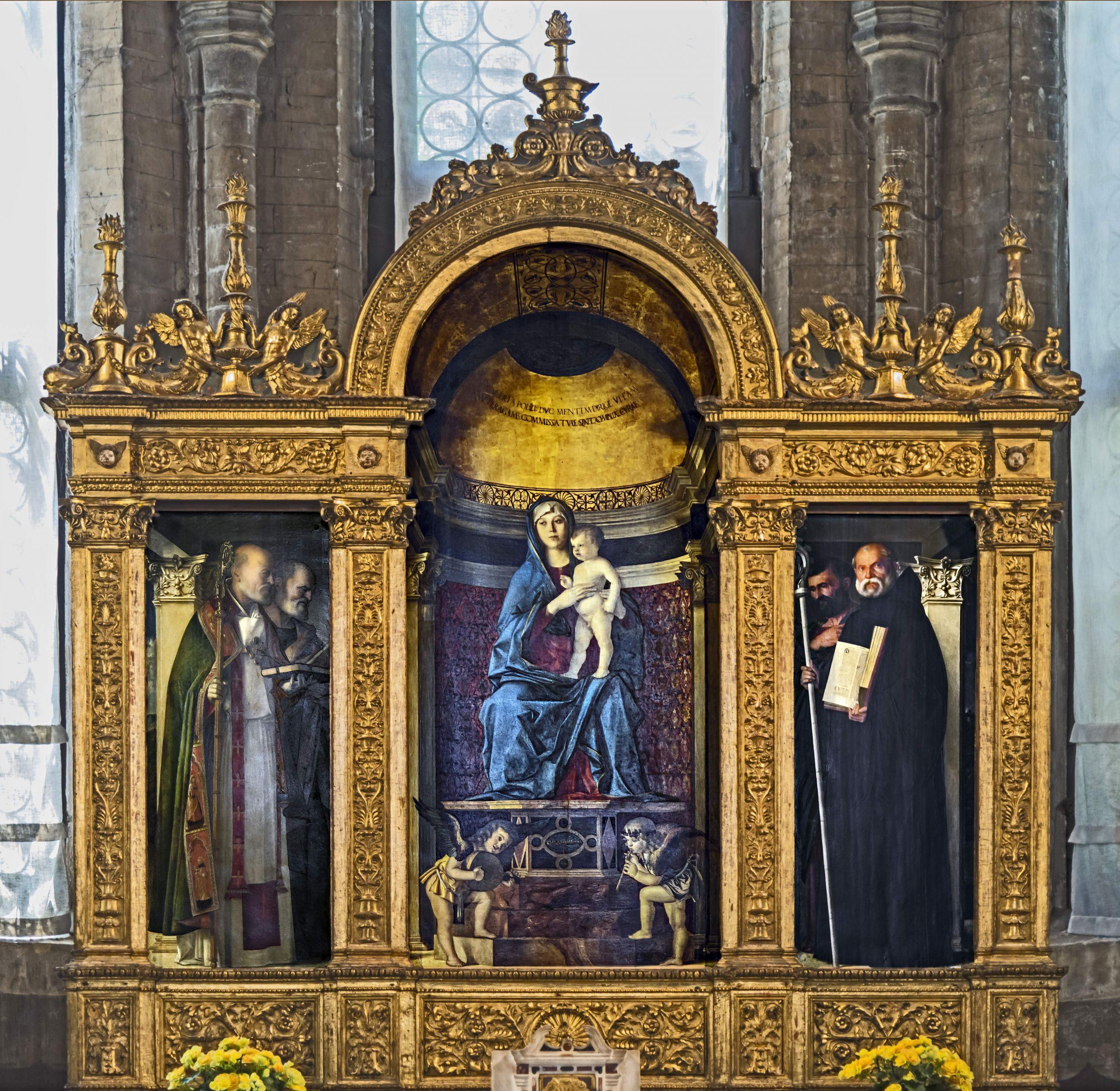 Frari Venice Sacristy triptych by Giovanni Bellini