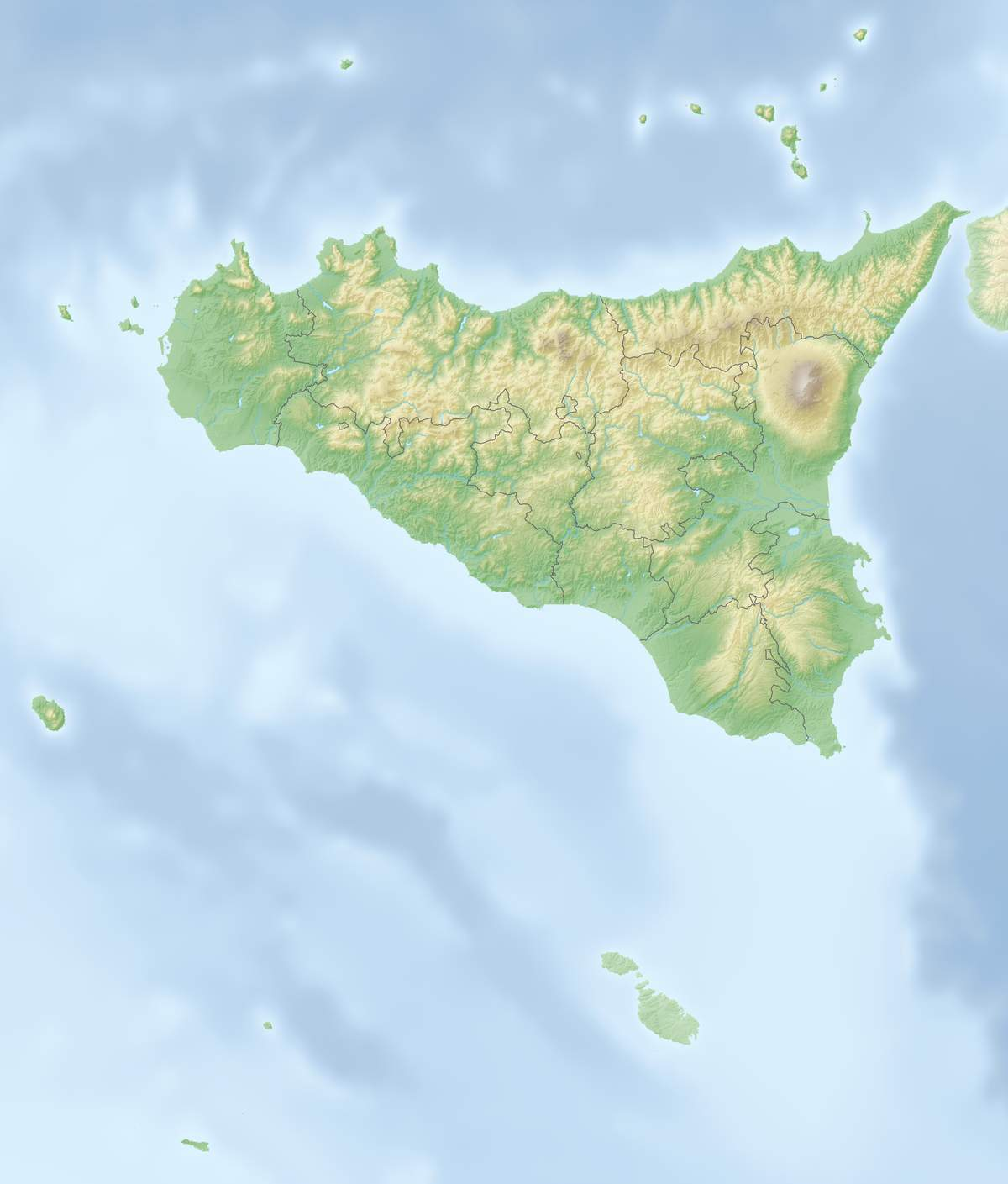 1200px Relief map of Italien Sizilien