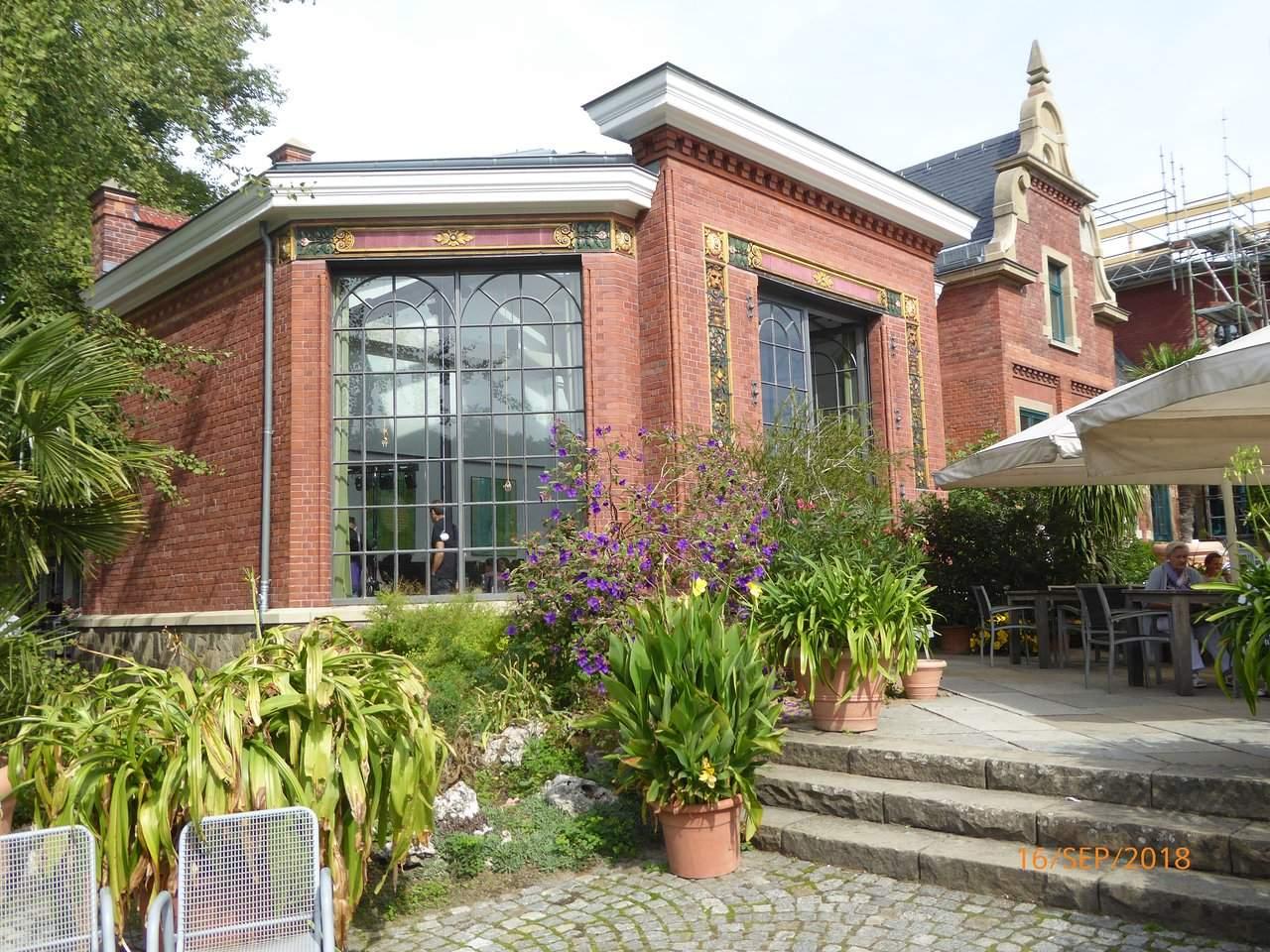 orangerie from garden