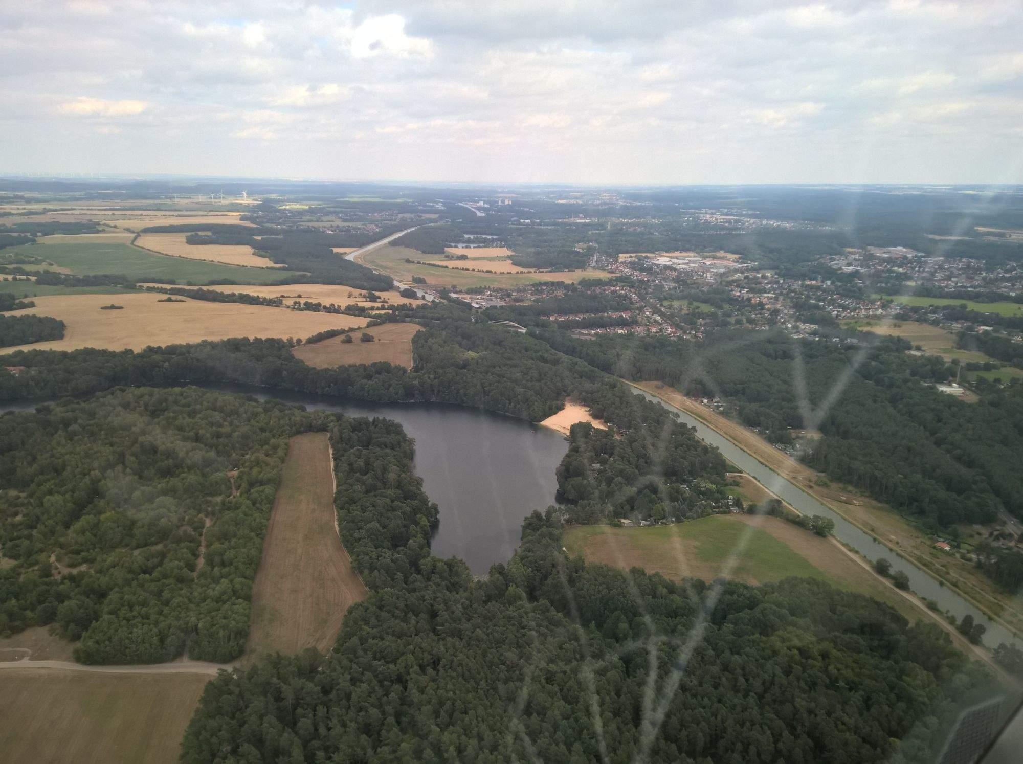 Rundflug Üdersee und Havel Oder Wasserstraße