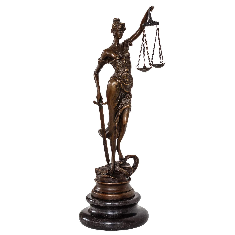 Bronzefiguren Garten Einzigartig Bronzeskulptur Justitia Justizia Bronzefigur Bronze Figur Skulptur Antik Stil