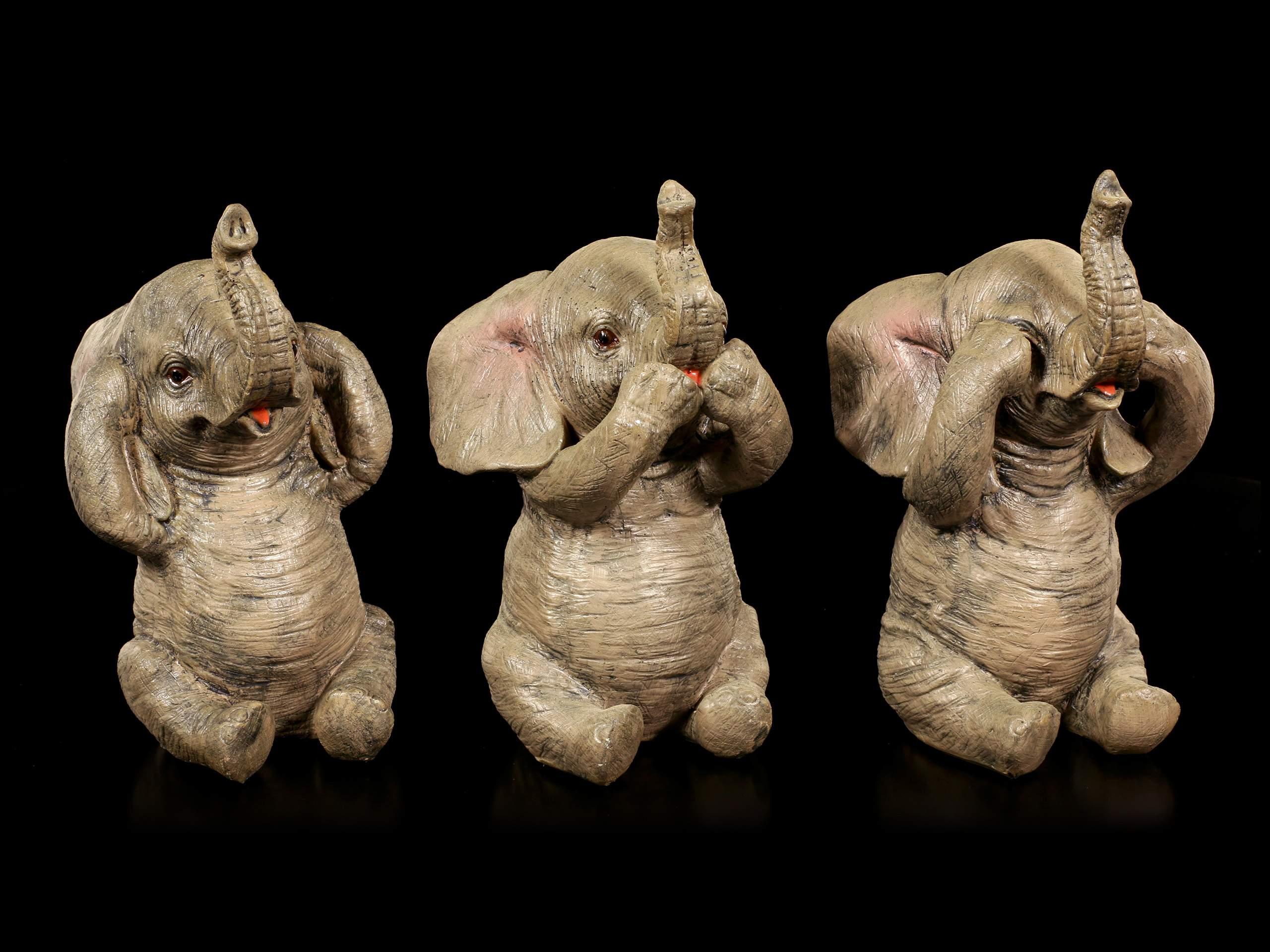 Elefanten Figuren 3er Set Nichts Boeses