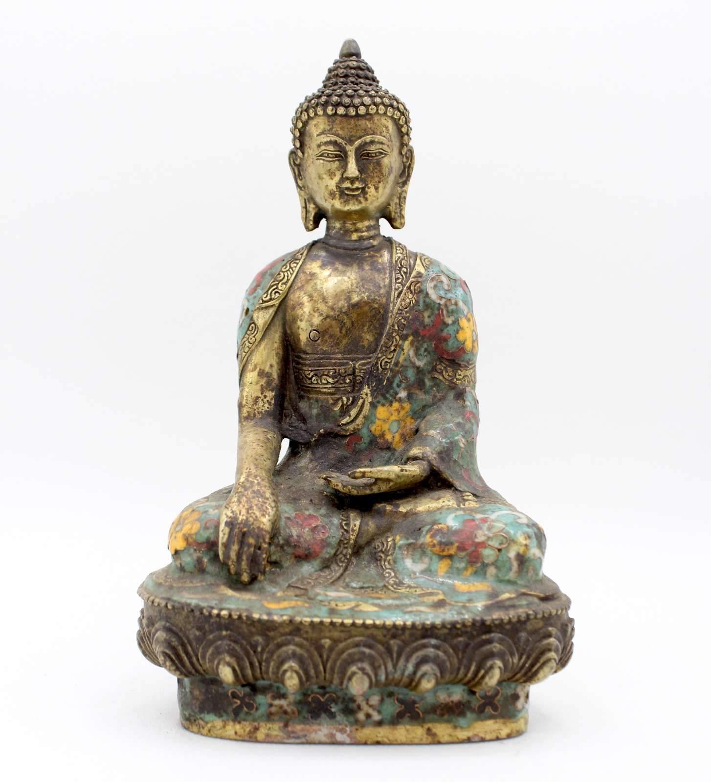 Buddha Kopf Garten Inspirierend Cloisonné Siddharta Buddha 20cm Bronze Figur