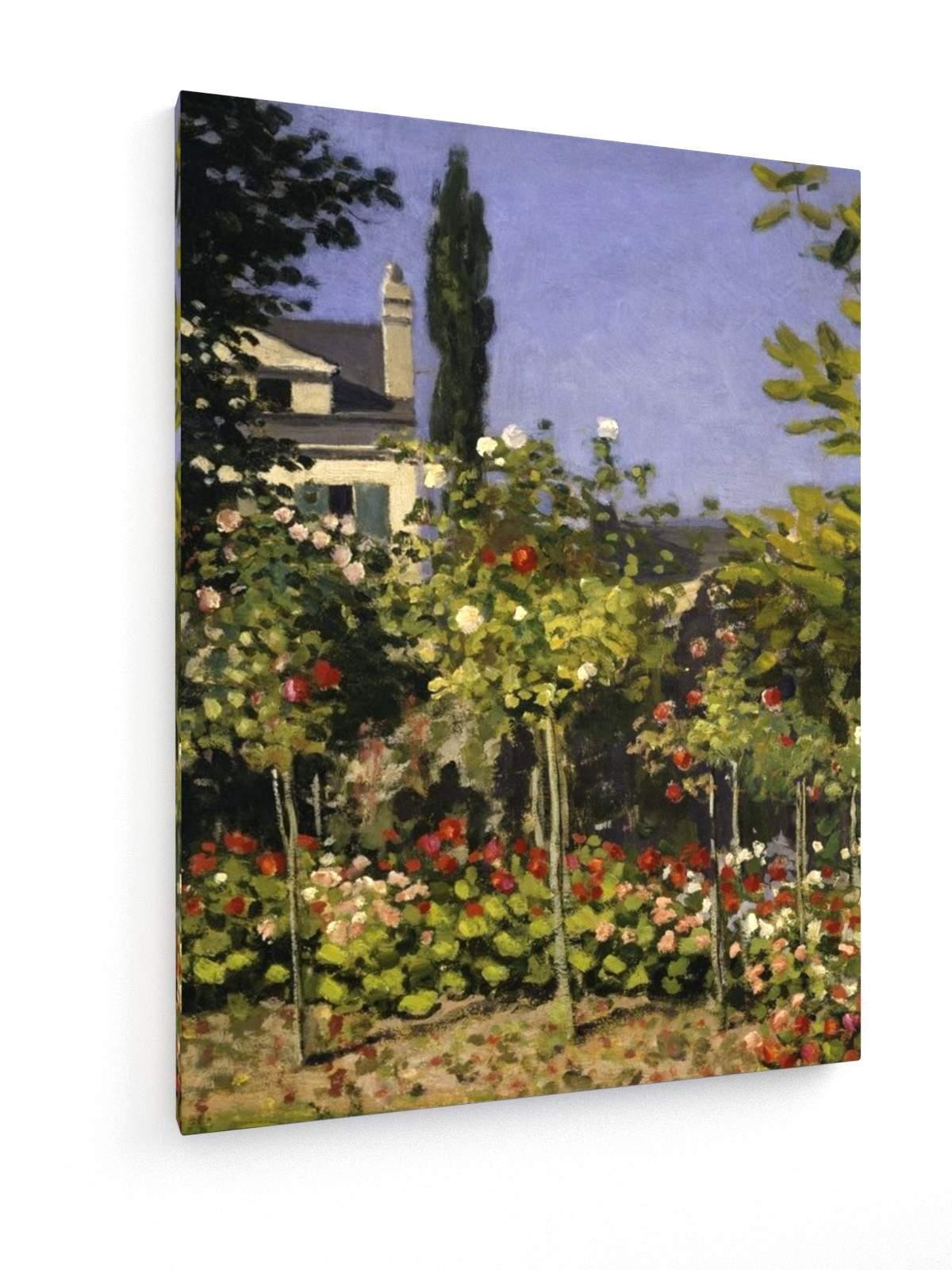 Leinwandbild Claude Monet Bl hender Garten Detail