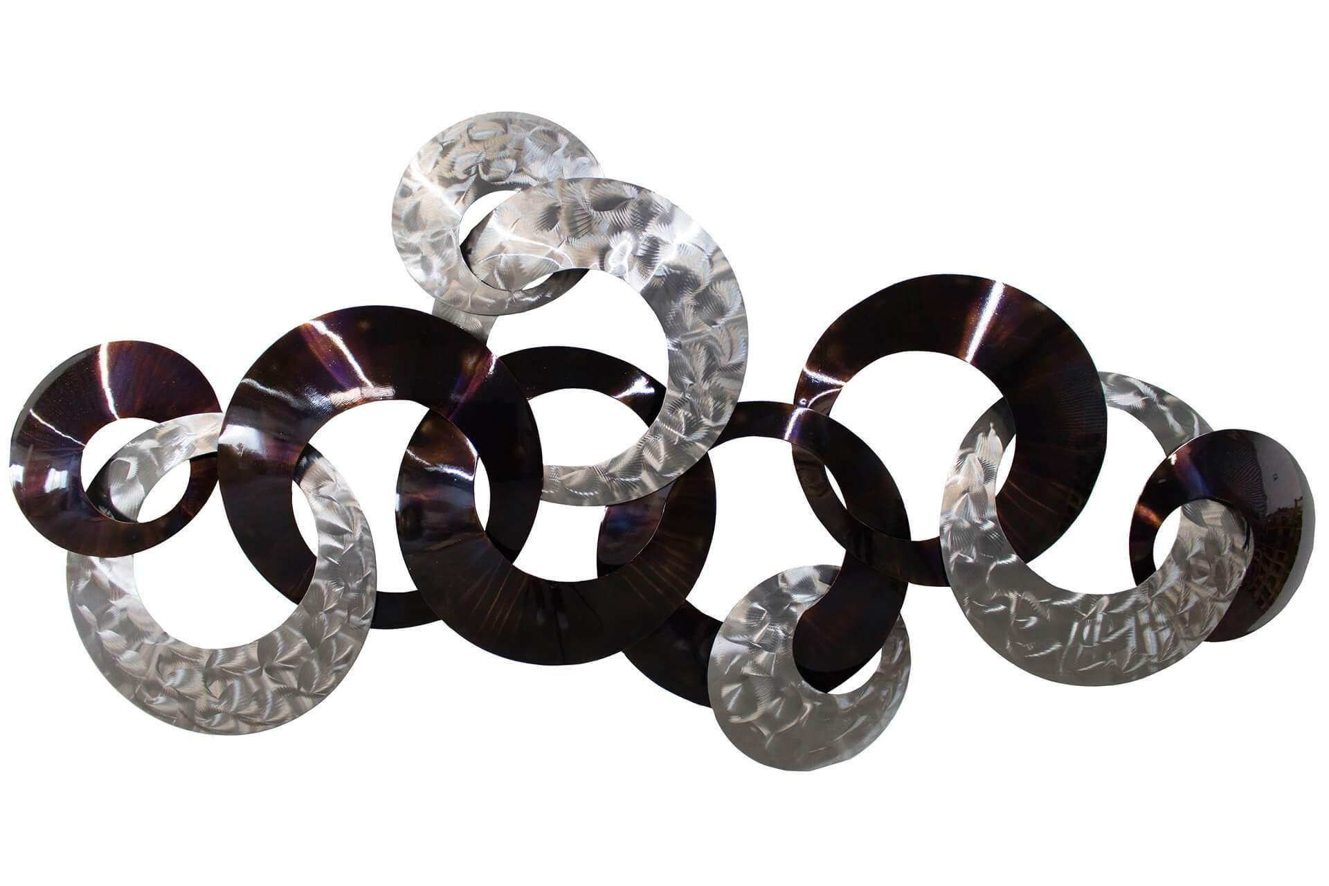kl braun ringe braun wanddeko metall wandskulptur wandbilder aus metall 01