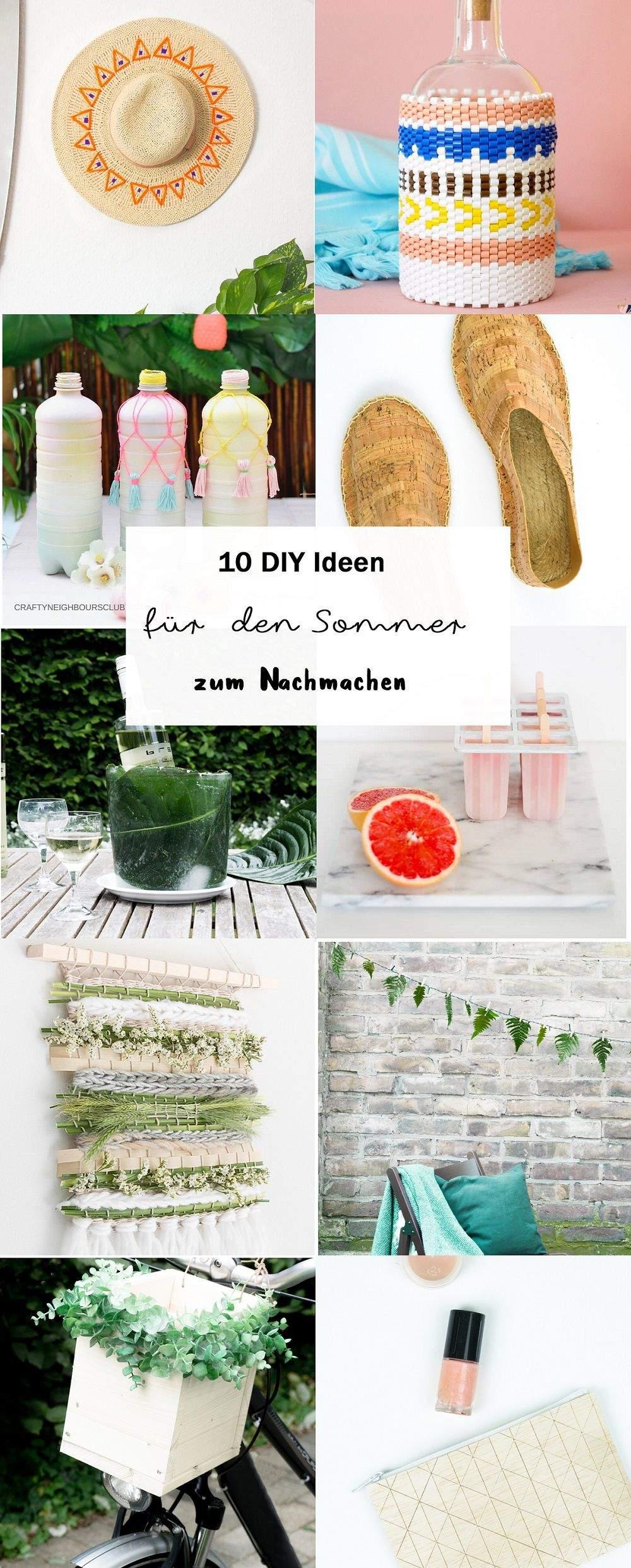 Diy Bastelideen Garten Frisch 10 Diy Bastelideen Für Den sommer