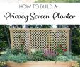 Diy Garten Reizend Privacy Screen Planter Diy