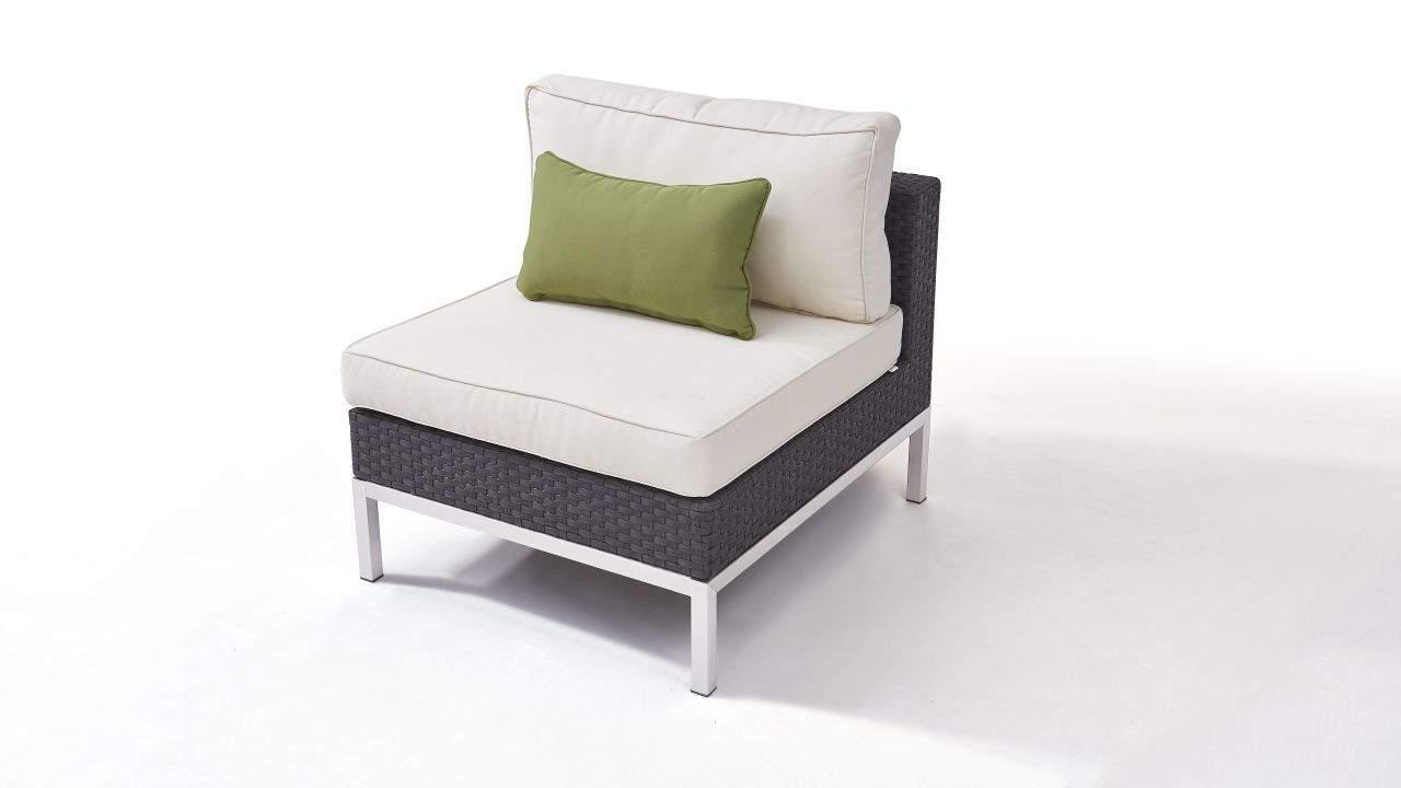 rattan sofa garten luxus polyrattan edelstahl silva mittelsofa anthrazit polyrattan edelstahl gartenmobel modul in anthrazit of rattan sofa garten