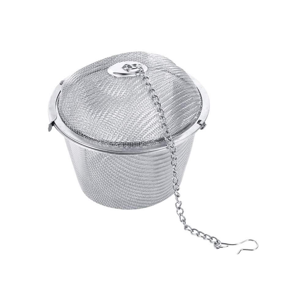 Edelstahl Hop Spinne Teesieb Infuser Tee Locking Ball Tea Spice Ball Kochen Werkzeuge Drahtkorb Sieb