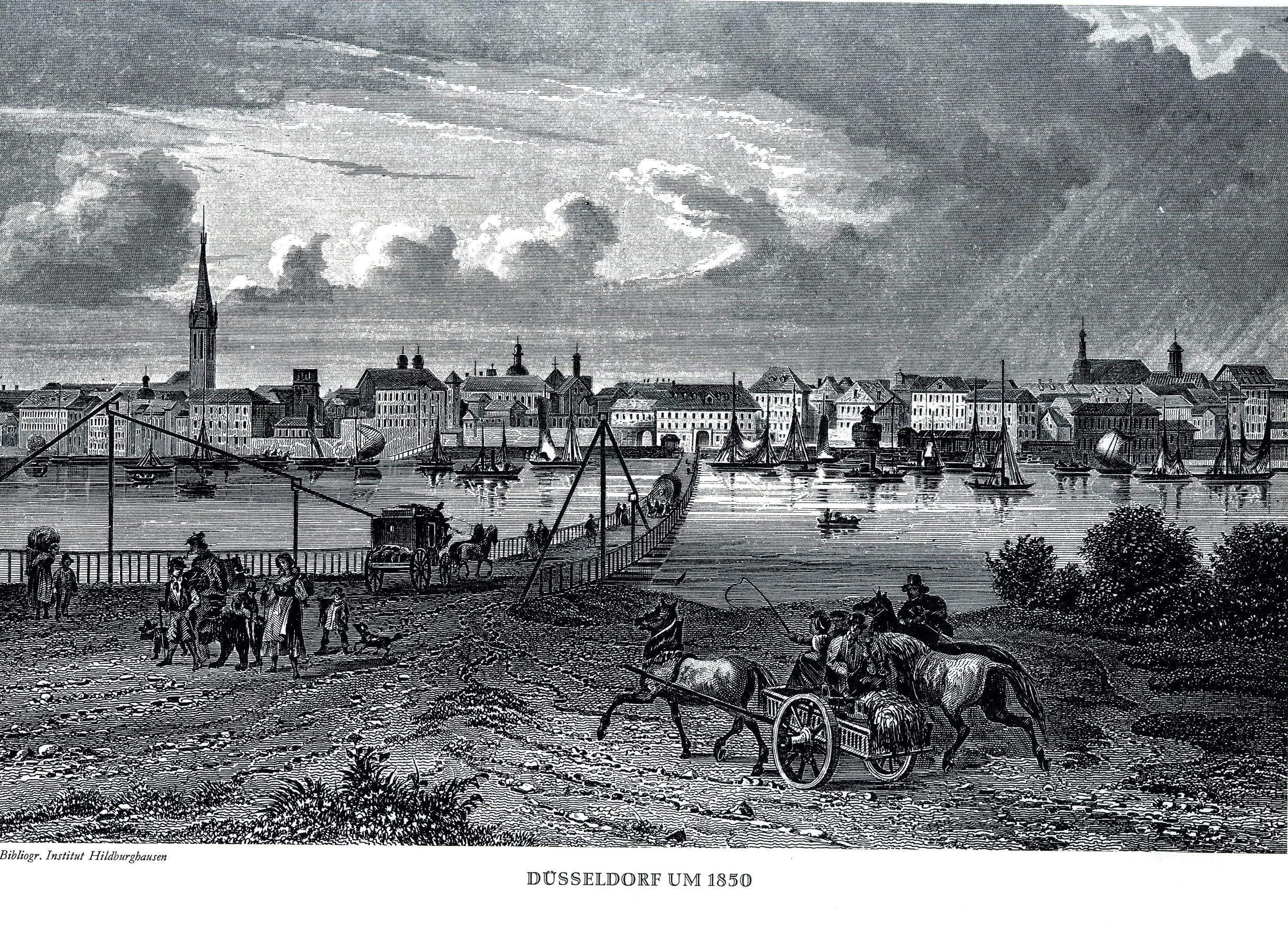 Düsseldorf Stich 1850