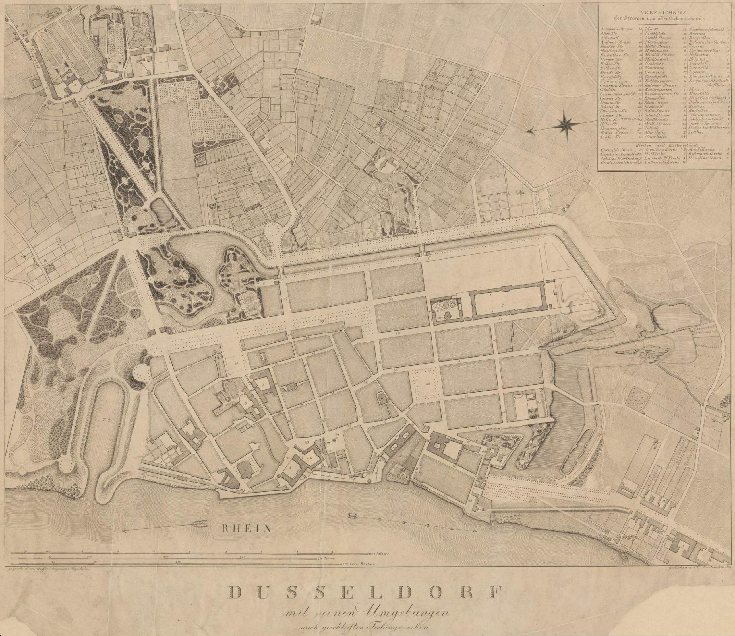 Düsseldorf und seine Umgebungen 1809