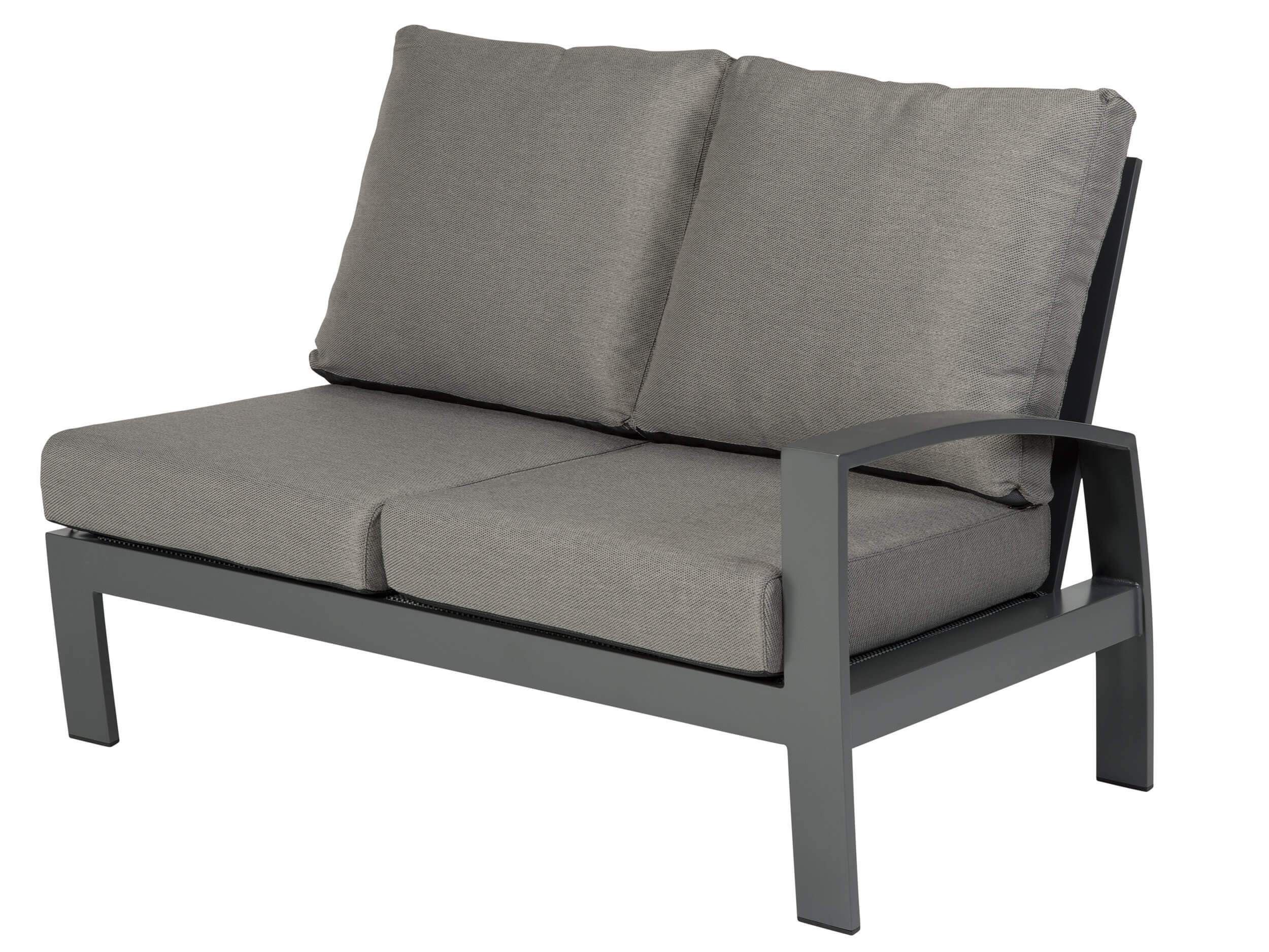 alu lounge 2 sitzer links offen sofa valencia anthrazit