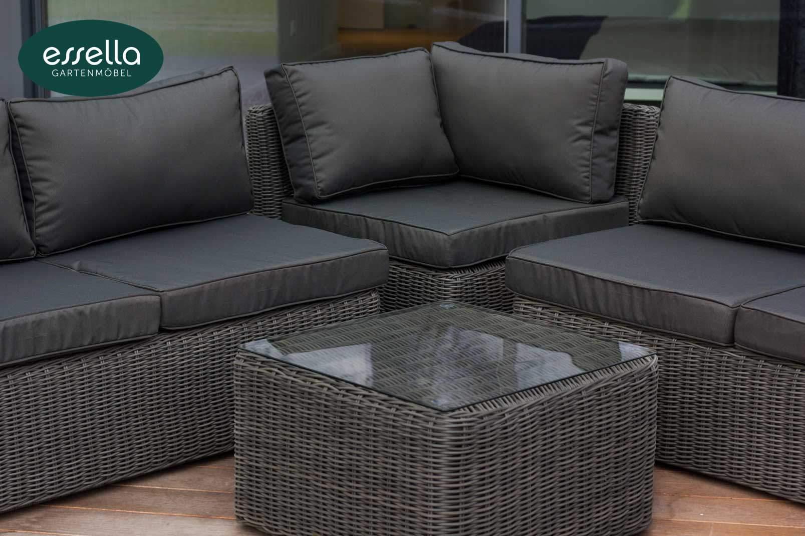 essella polyrattan loungemoebel sitzgruppe oslo grau rundgeflecht 5