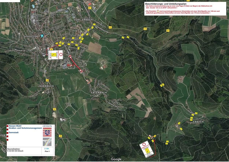Abb 1 K 42 Umleitung Vollsperrung vom 2 9 September