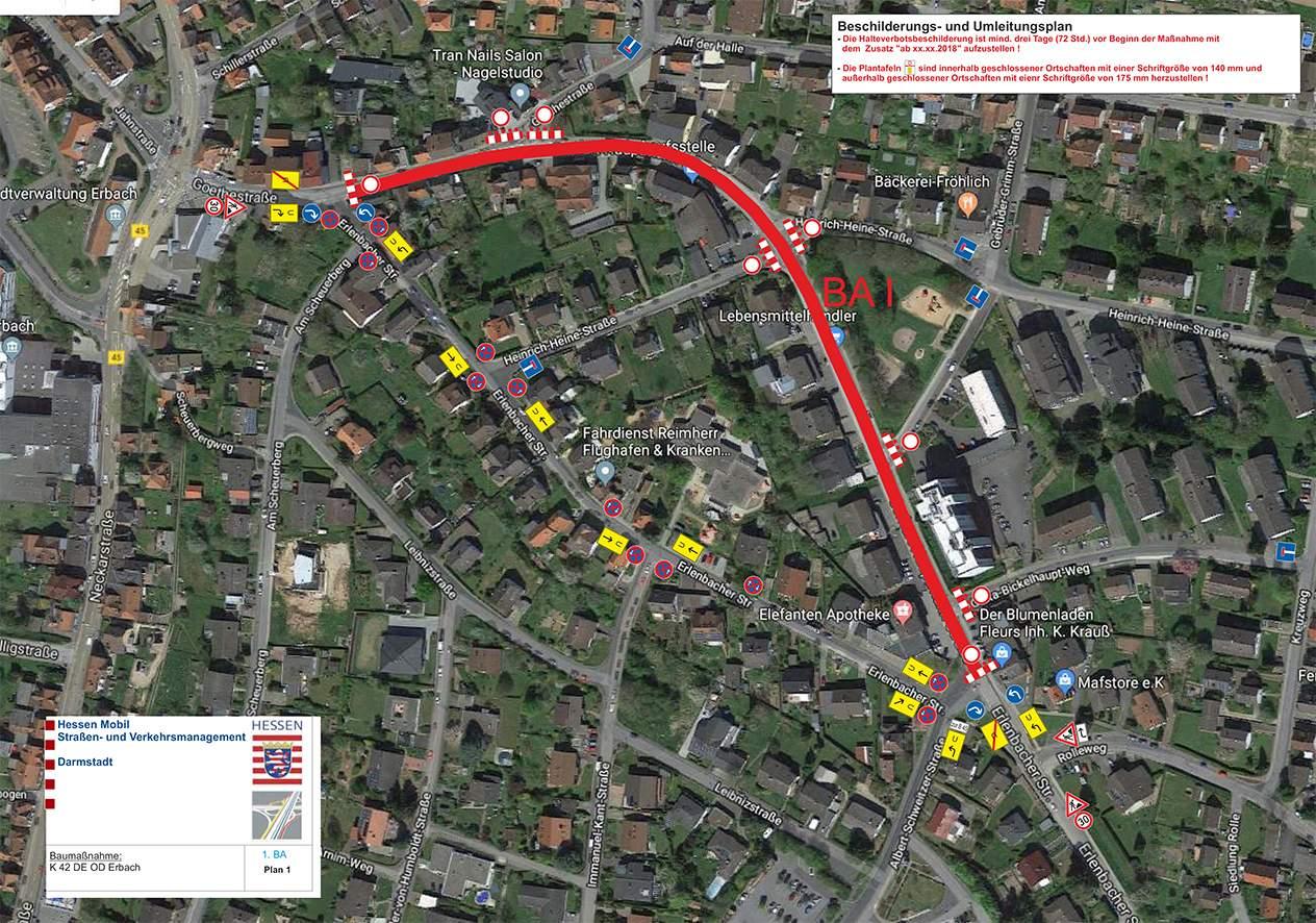 Englischer Garten Eulbach Genial Vollsperrung Der ortsdurchfahrt Erbach Bis 18 September