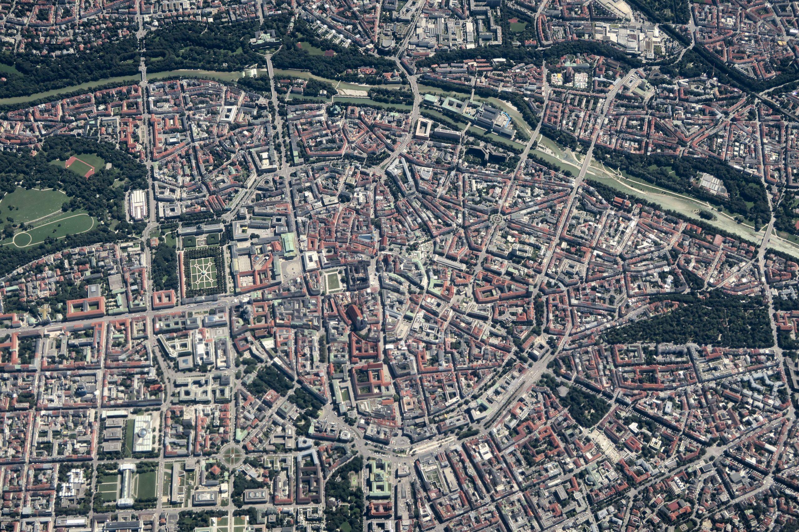 Luftbild München Innenstadt