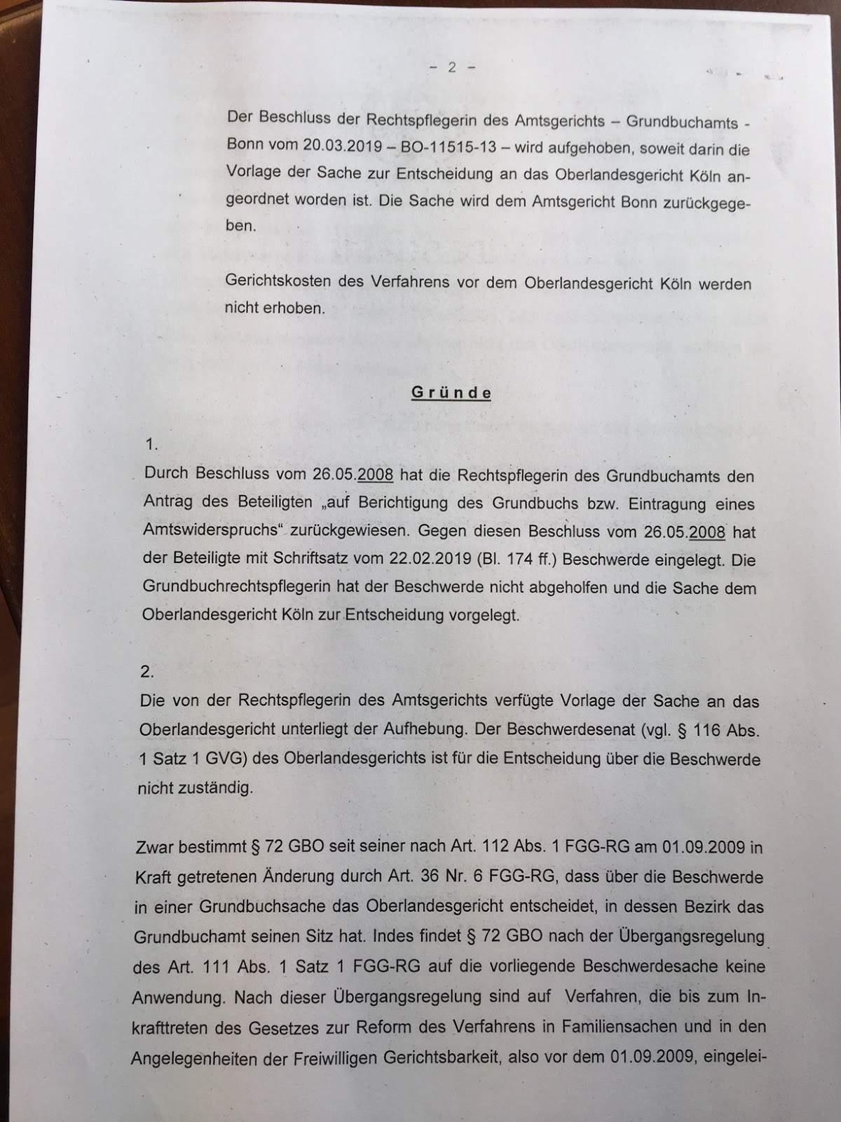 Beschluss OLG Köln 2