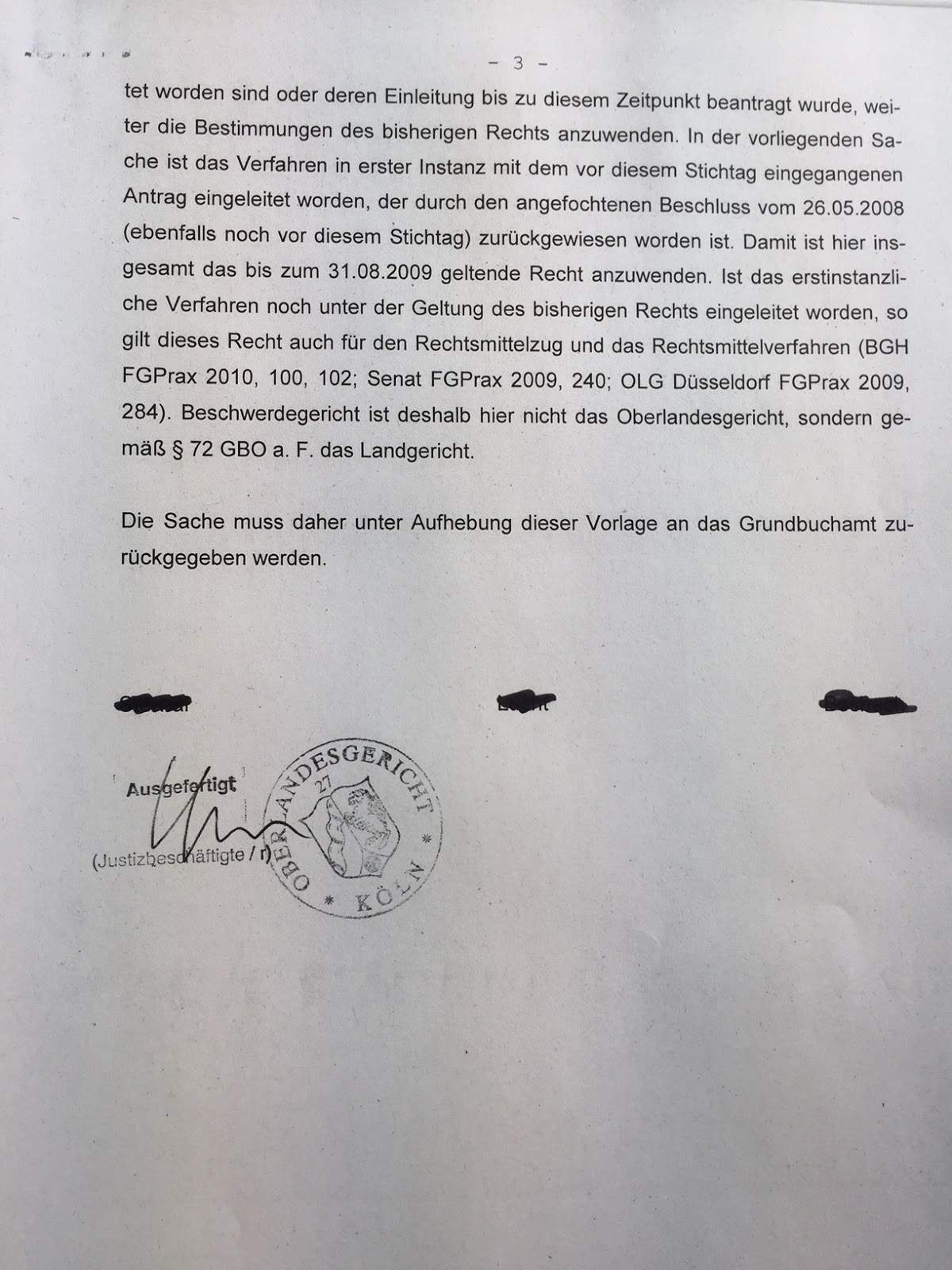 Beschluss OLG Köln 3