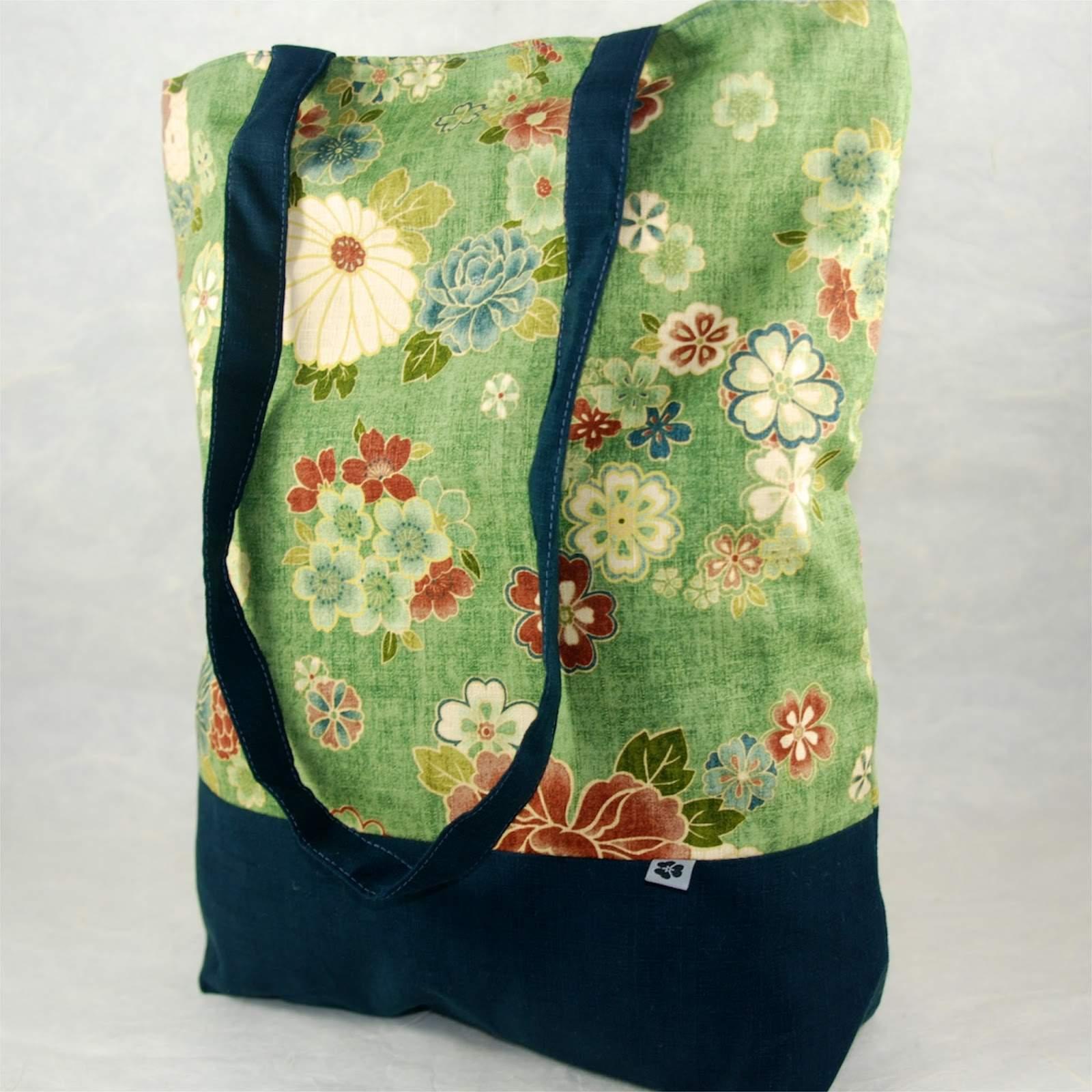 Einkaufsbeutel FURUSATO aus japanischen Stoffen Noriko handmade 05