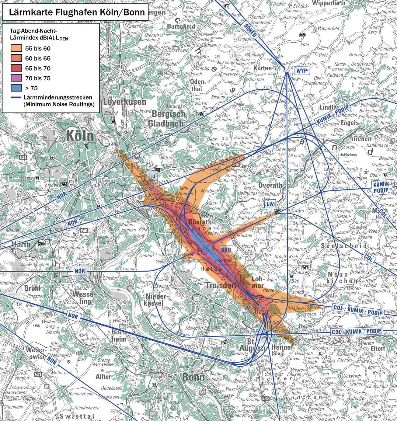Lärmkarte Flughafen Köln Bonn