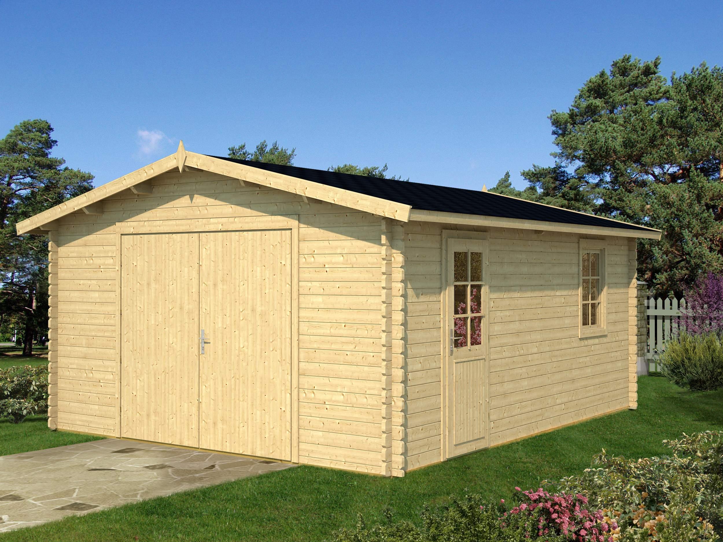Garage B 40 111 056 Mit Holzdach