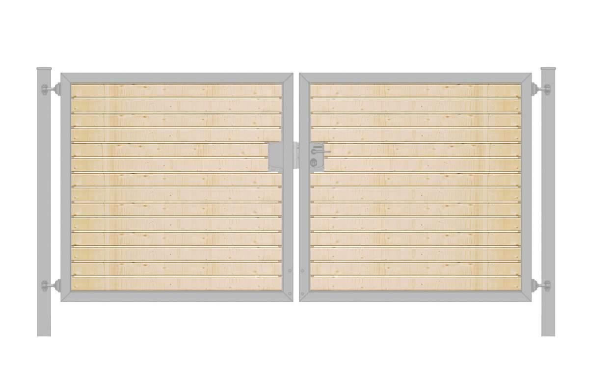 Einfahrtstor Holzfuellung waagerecht Premium zweifluegelig symmetrisch verzinkt5cab15d49f2e3 600x600 2x
